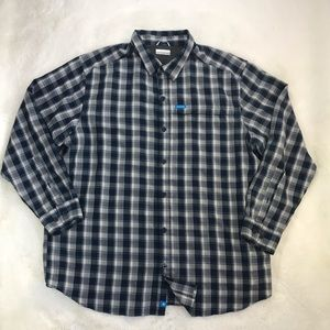 Columbia Blue Long Sleeve Button Up Shirt XXL